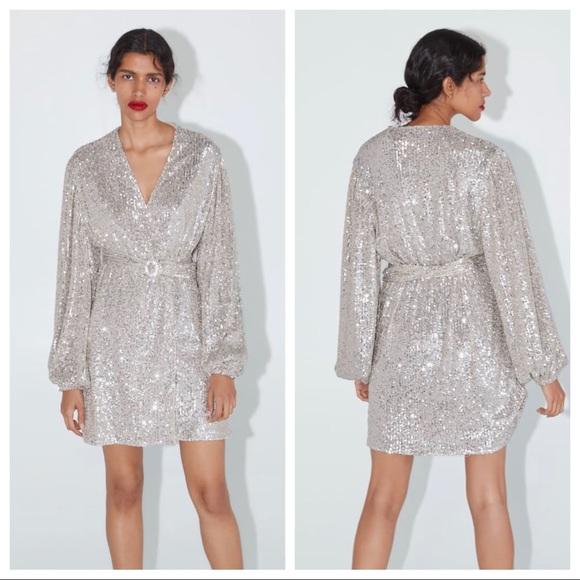 Zara Black Lace Frill Long Ruffled Sleeve Mini Double Dress Size XS S M Blogger